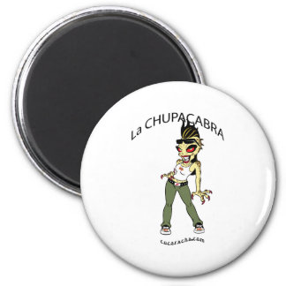 chupacabra-1 6 cm round magnet