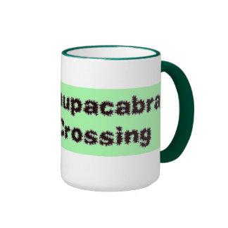 Chupacabra crossing green mug