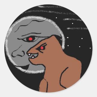 chupacabra round sticker