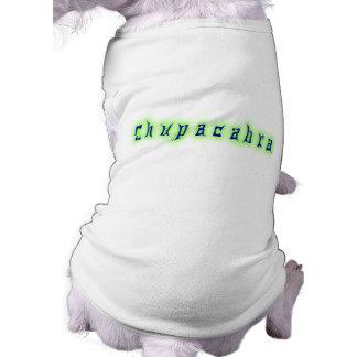 Chupacabra Text Sleeveless Dog Shirt