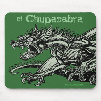 Chupacabra vertical mousepad
