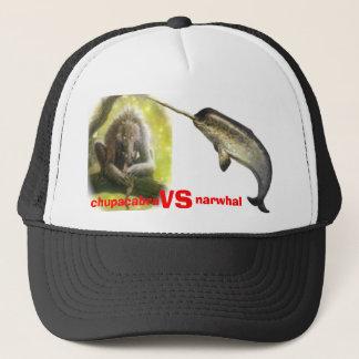 chupacabra vs narwhal trucker hat