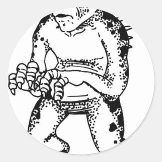 chupacabras-1 round sticker