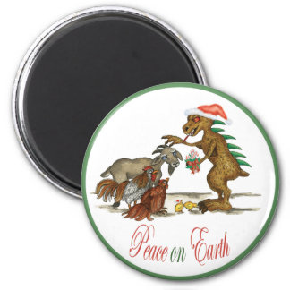 Chupi Peace on Earth Holiday Magnet