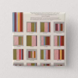 Church Accommodation, Statistical US Lithograph 15 Cm Square Badge