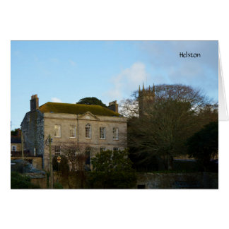 Church and Manor House Helston Cornwall England Card