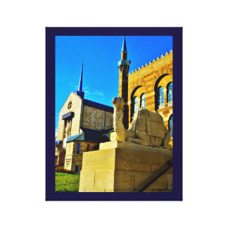 Church and Mosque Canvas Print