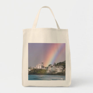 Church and Rainbow Grocery Tote Bag