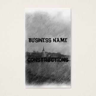 Church and sea business card