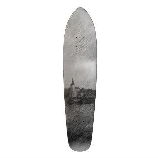 Church and sea skateboard decks