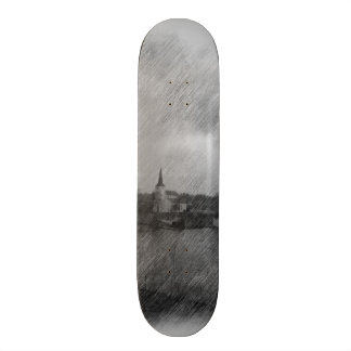 Church and sea skate board