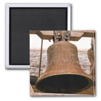 CHURCH BELL SQUARE MAGNET