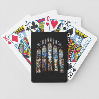 church bicycle playing cards