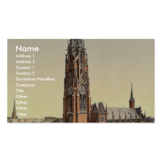Church, Bremerhafen, Hanover (i.e. Hannover), Germ Business Card Template