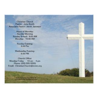 Church Bulletins, White cross, customize 21.5 Cm X 28 Cm Flyer