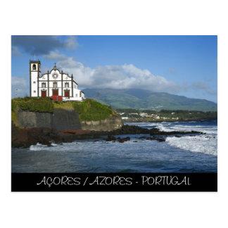 Church by the sea postcard