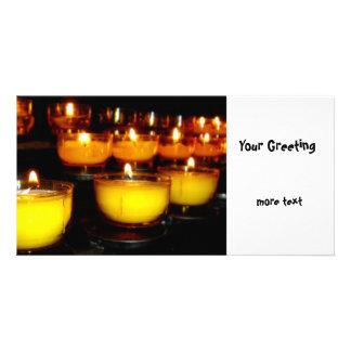 Church Candles Photo Card