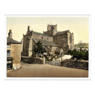 Church, Cartmel, England vintage Photochrom Postcard