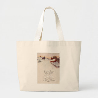 Church Christian Snow Winter Jumbo Tote Bag