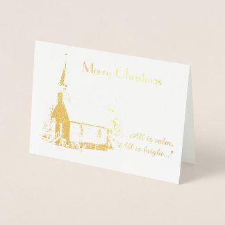 Church Christmas Card (Foil)