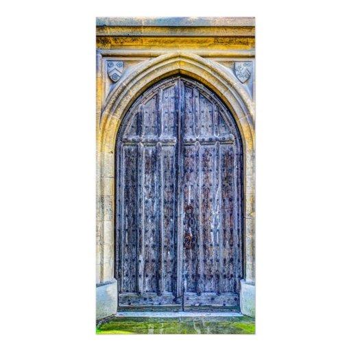 Church Door Personalised Photo Card