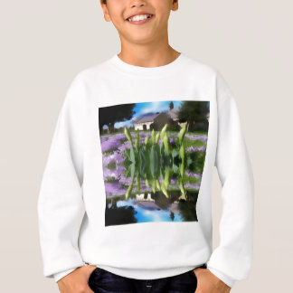 Church flowers in reflection sweatshirt