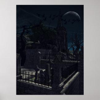 Church Graveyard Poster