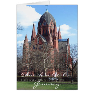 Church in Berlin, Germany Card