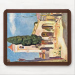Church In Cagnes By Pierre-Auguste Renoir Mousepads