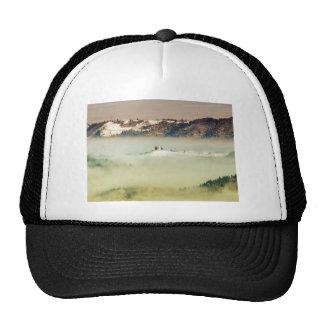 Church in fog trucker hats