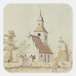 Church in Pankow, Berlin Square Sticker