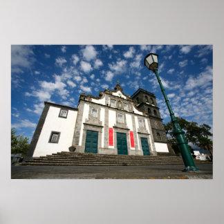 Church in Ribeira Grande Poster