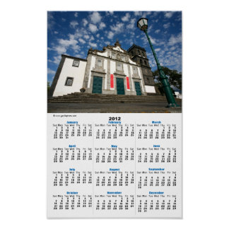 Church in Ribeira Grande Print