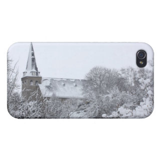 church in snow iPhone 4 cover