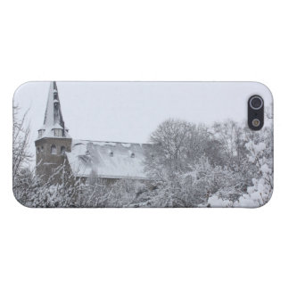 church in snow iPhone 5 cases