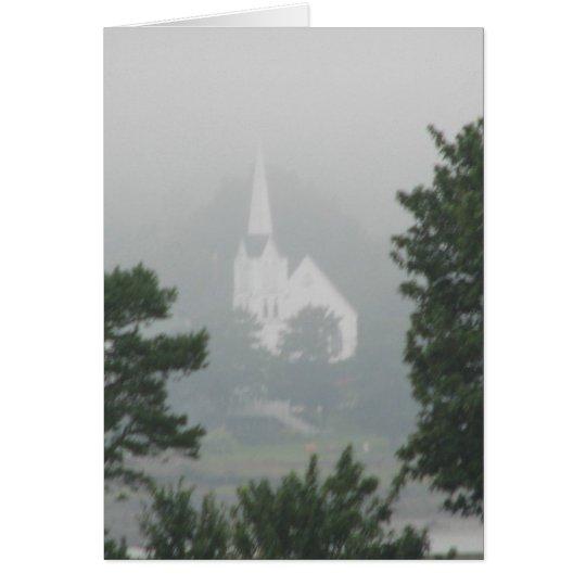 Church in the Mist Card