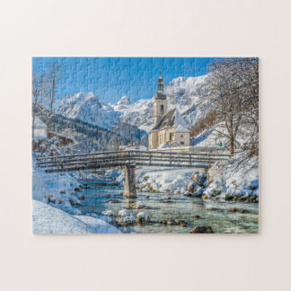 Church in Winter 11x14 Jigsaw Puzzle