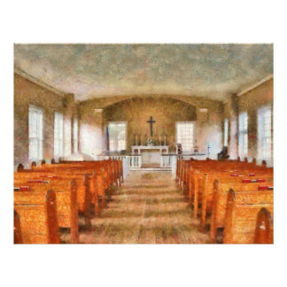 Church - Inside a church 21.5 Cm X 28 Cm Flyer