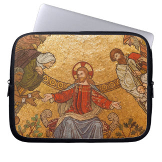 Church Mosaic - Jesus Christ Computer Sleeves