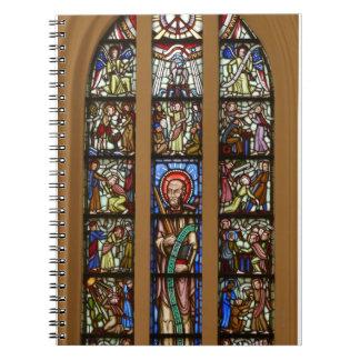 Church mosaic window spiral notebooks