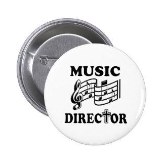 CHURCH MUSIC DIRECTOR 6 CM ROUND BADGE