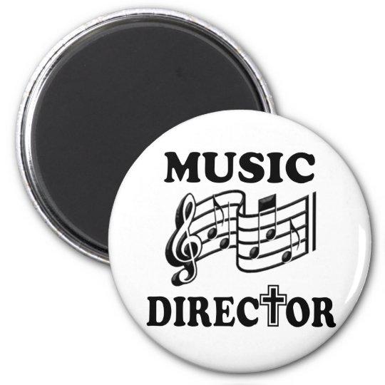 CHURCH MUSIC DIRECTOR 6 CM ROUND MAGNET