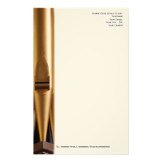Church musician letterhead with pipe stationery paper