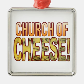 Church Of Blue Cheese Silver-Colored Square Decoration