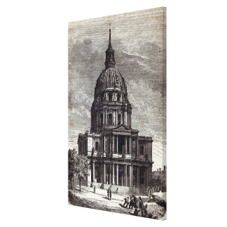 Church of Invalides, containing Tomb of Canvas Print