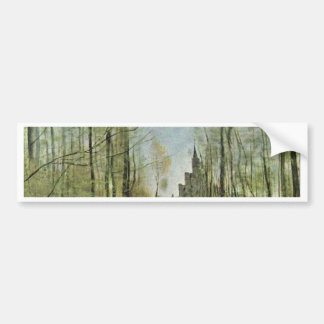 Church Of Marissel By Corot Jean-Baptiste-Camille Bumper Stickers