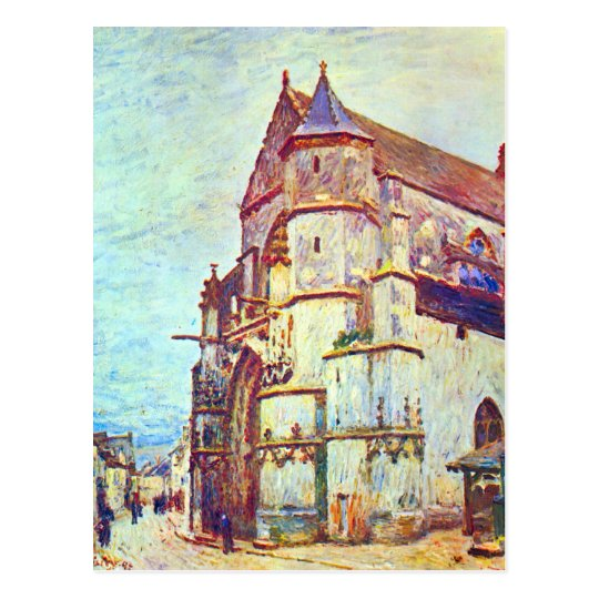 Church of Moret, After the Rain by Alfred Sisley Postcard