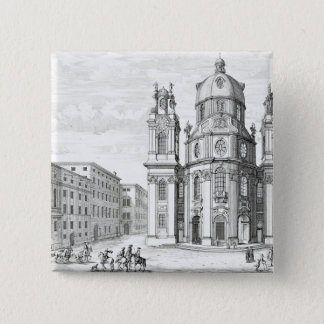 Church of Notre Dame, Salzburg, Austria, from 'Ent 15 Cm Square Badge