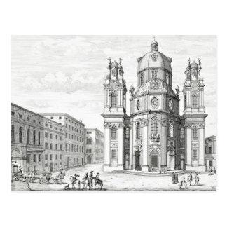 Church of Notre Dame, Salzburg, Austria, from 'Ent Postcard