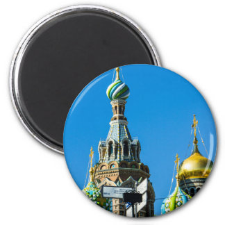 Church of Our Savior on Spilled Blood 6 Cm Round Magnet